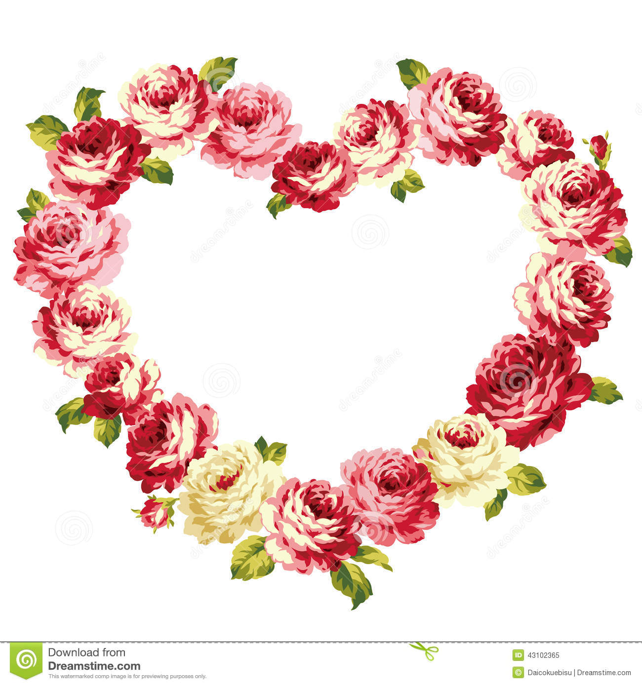 Frame of the rose stock vector. Illustration of corsage - 43102365