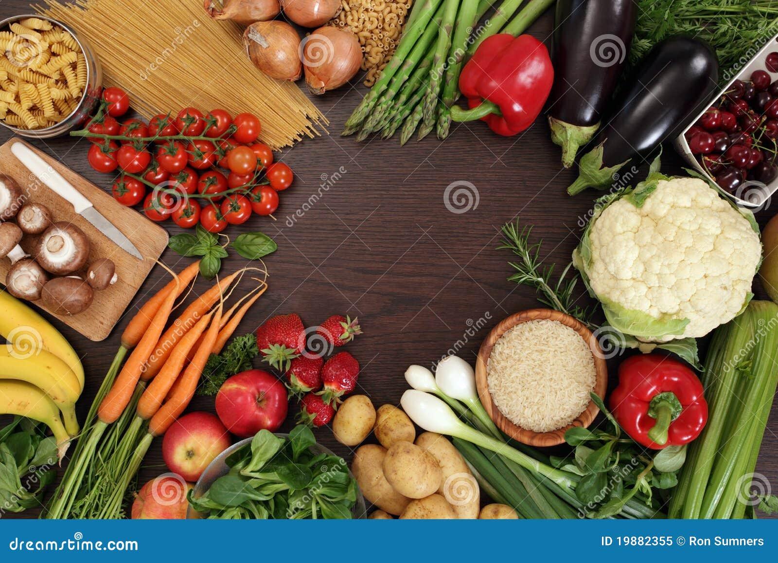 Frame saudável comer