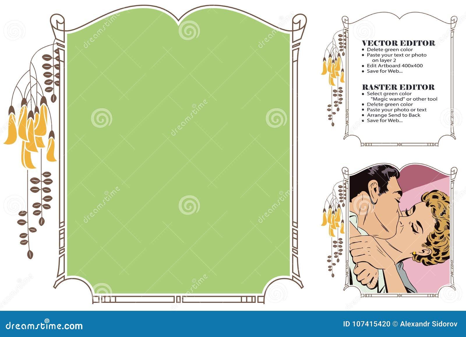 Frame For Scrapbook, Banner, Online Store, Social Network Stock ...