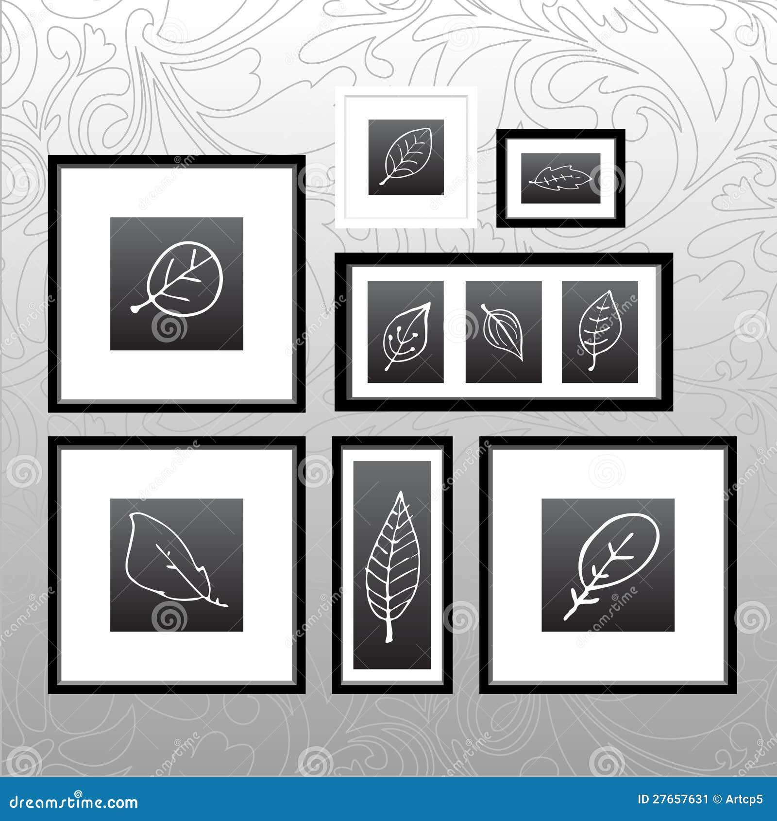 Frame set stock vector. Illustration of decoration, decorative ...