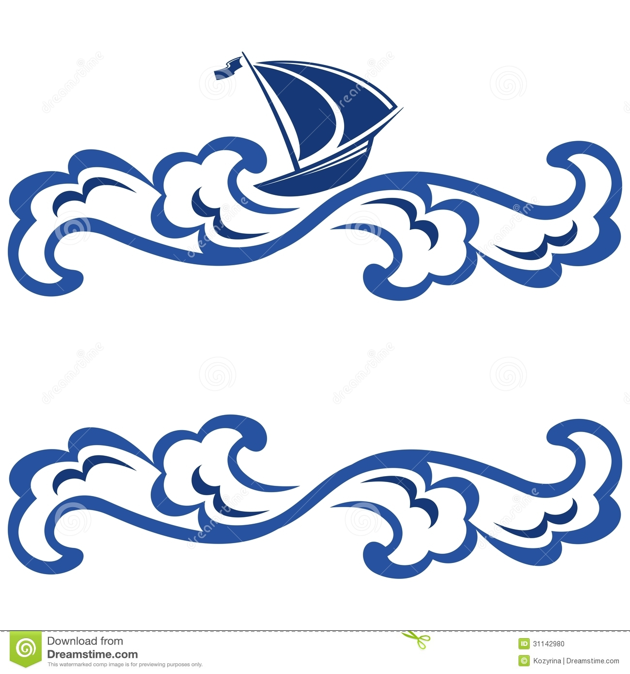 frame with ship stock vector image of blue  beautiful ocean waves clip art black ocean waves clip art no background
