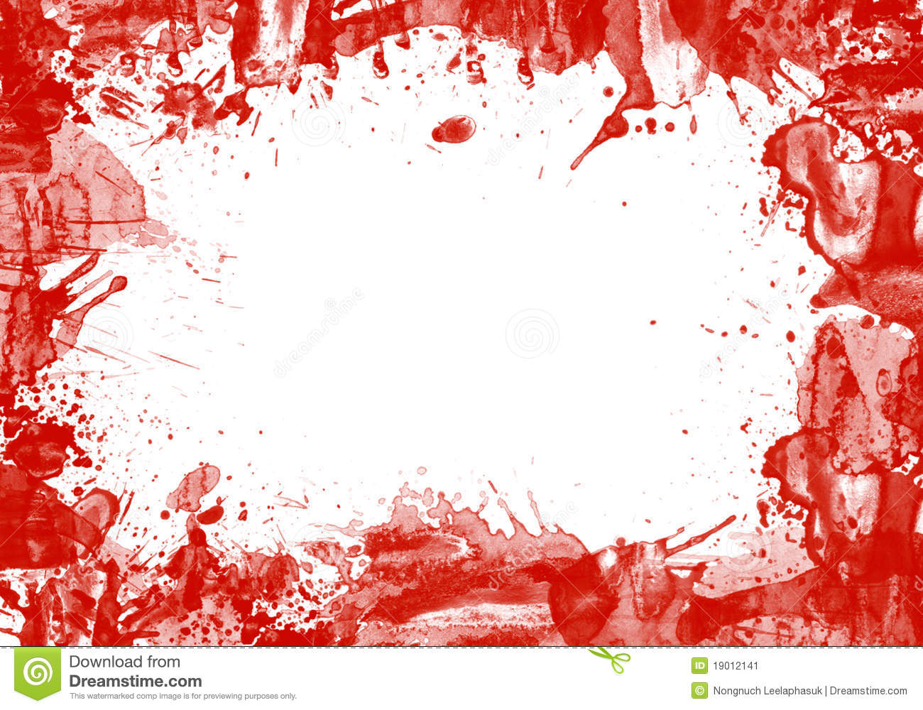 frame of splash blood and copy space stock image image