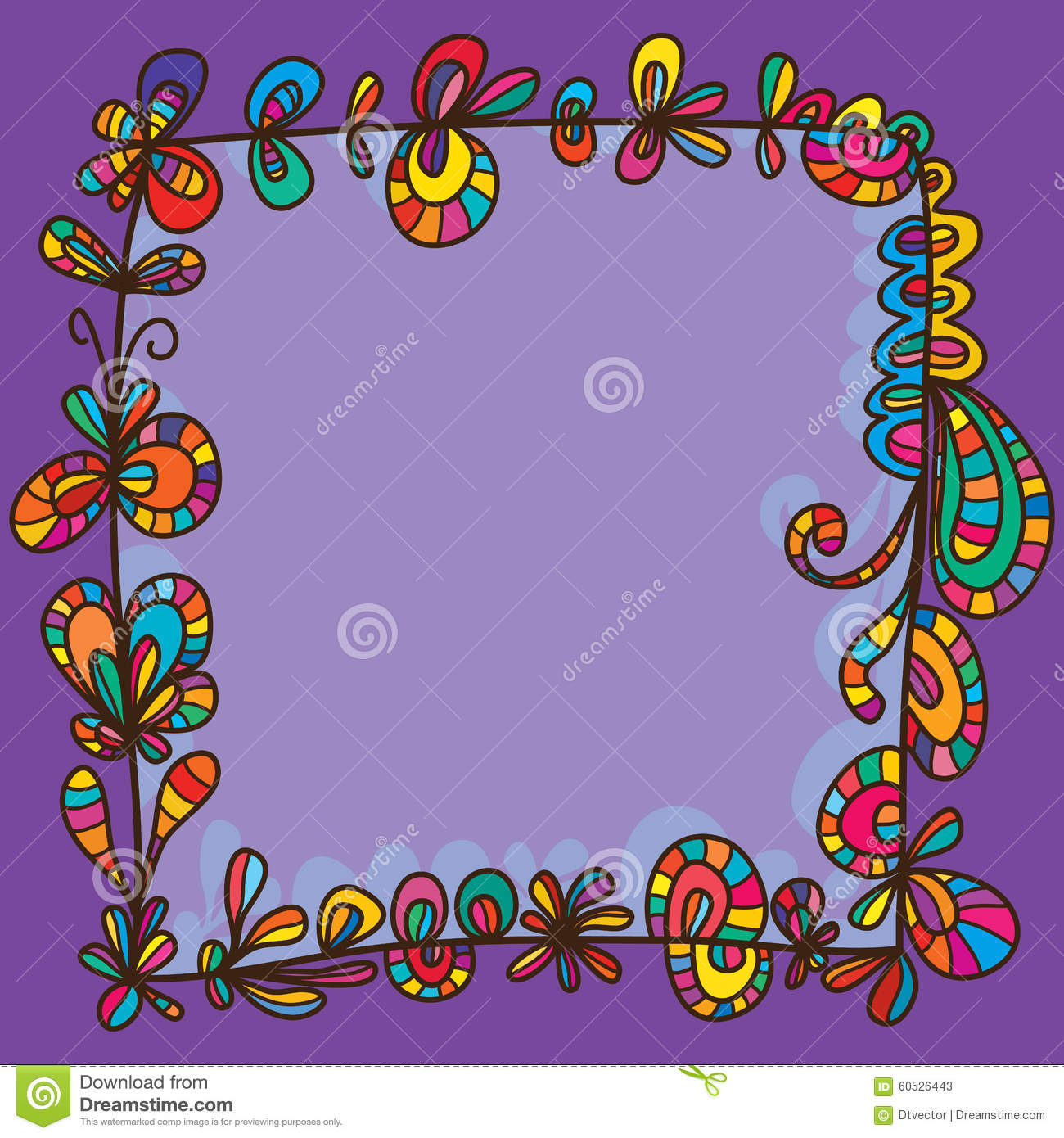 ... drawing frame square style template graphic purple background design