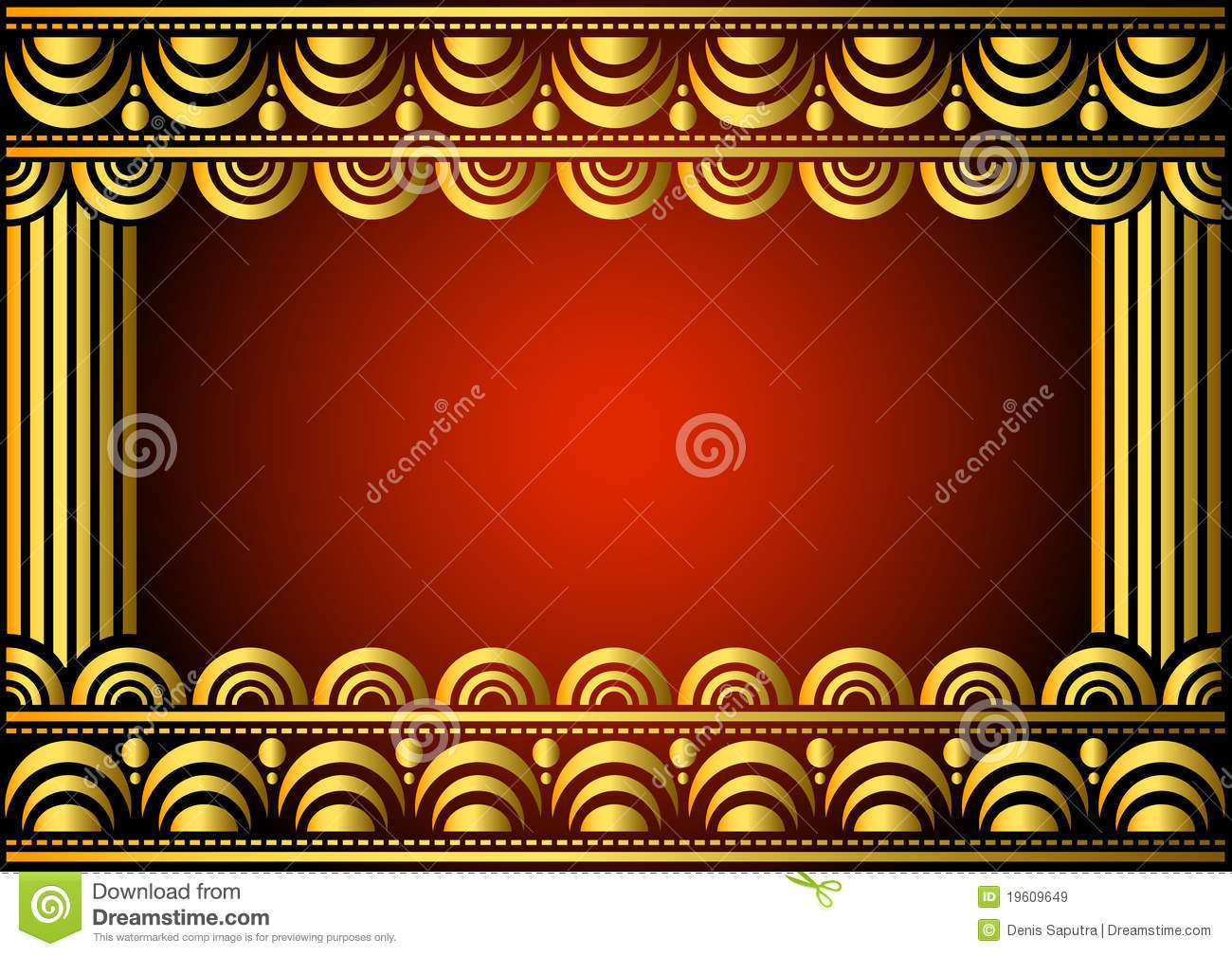 Frame stage stock vector. Illustration of decorative - 19609649