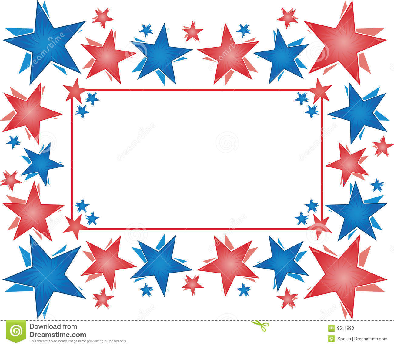 Frame With Stars - Happy 4th Of July Stock Photos - Image: 9511993