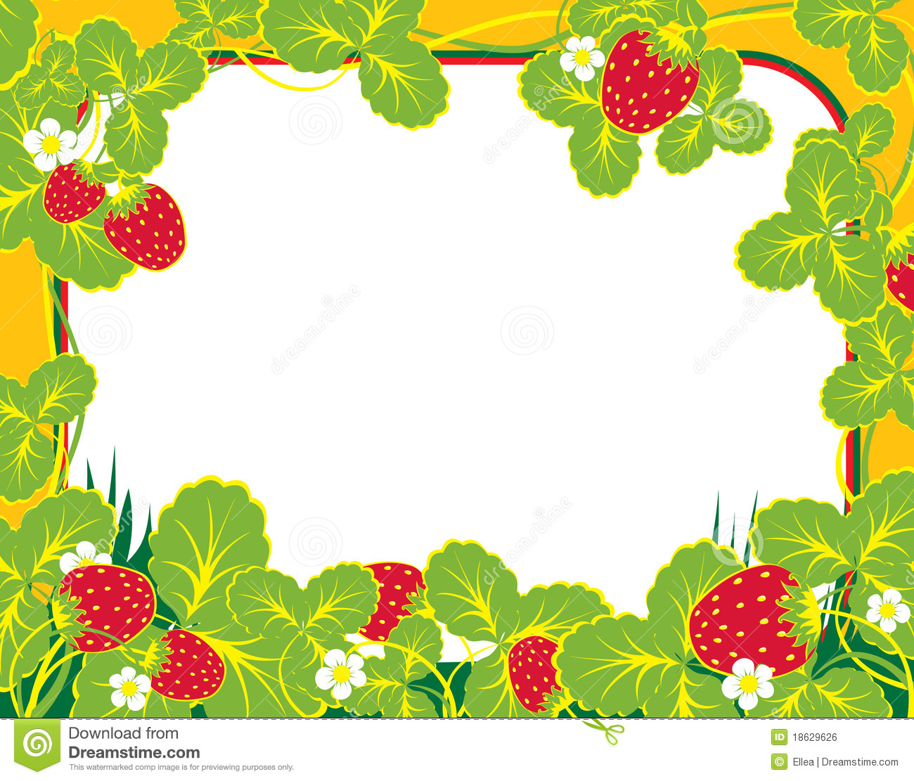 Frame Strawberry Stock Vector Image Of Draw Frame