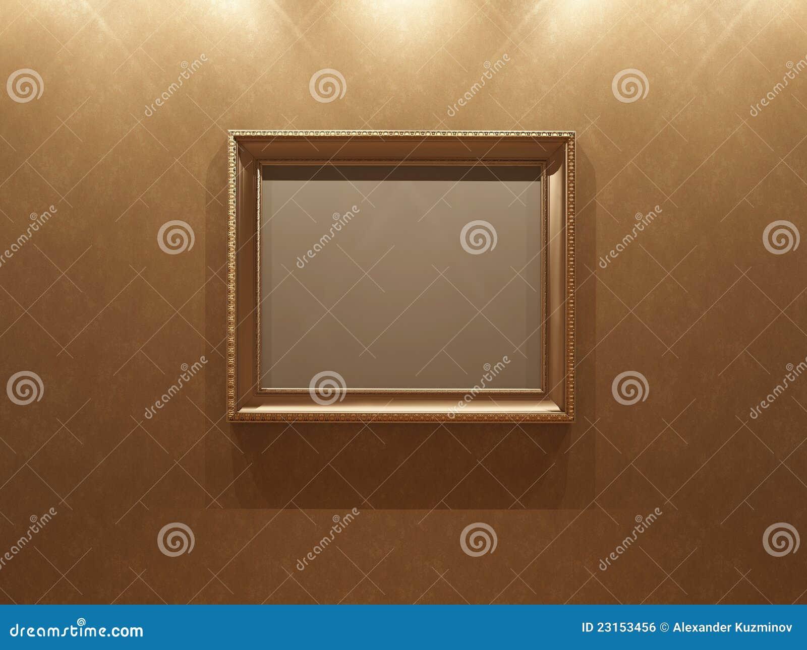 Stucco On Frame : Frame on stucco wall royalty free stock image