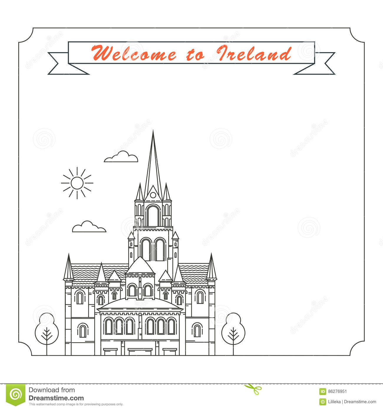Frame With Symbols Of Ireland Stock Vector - Illustration of travel ...