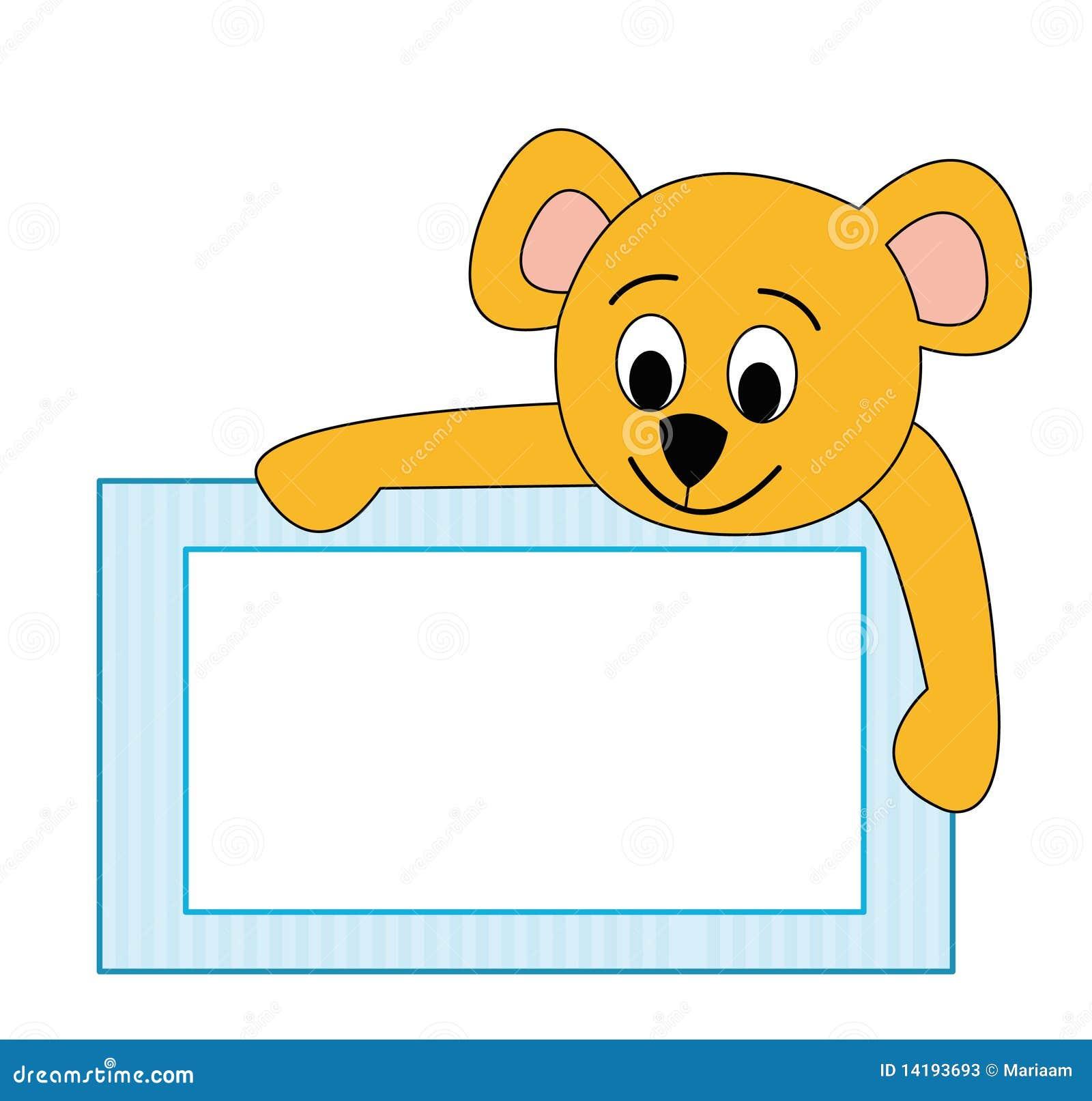 Frame With Teddy Bear Illustration 14193693 Megapixl
