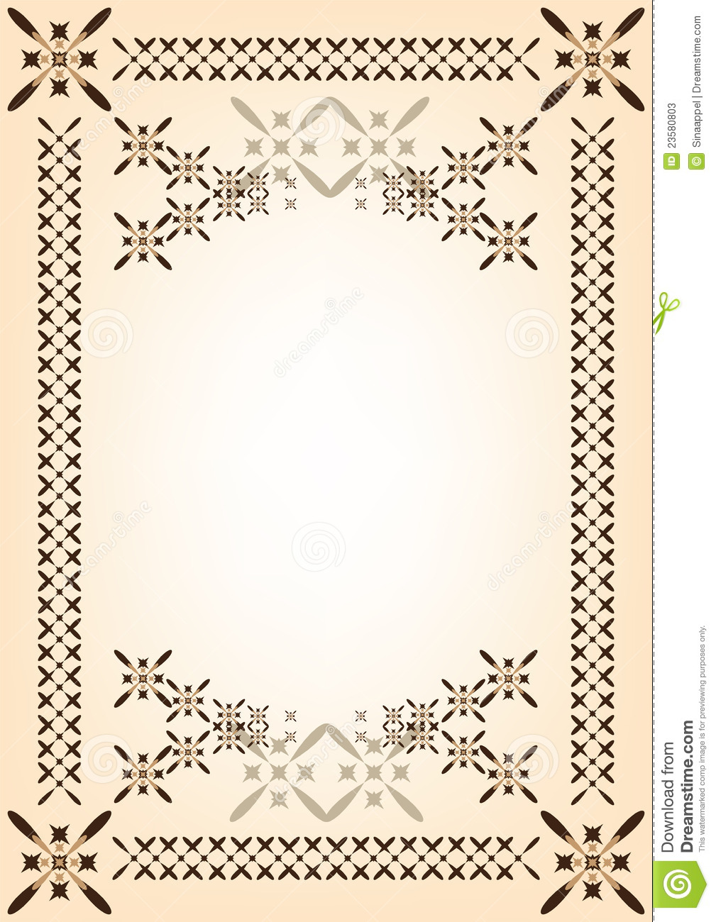 frame template for document or congratulations stock vector