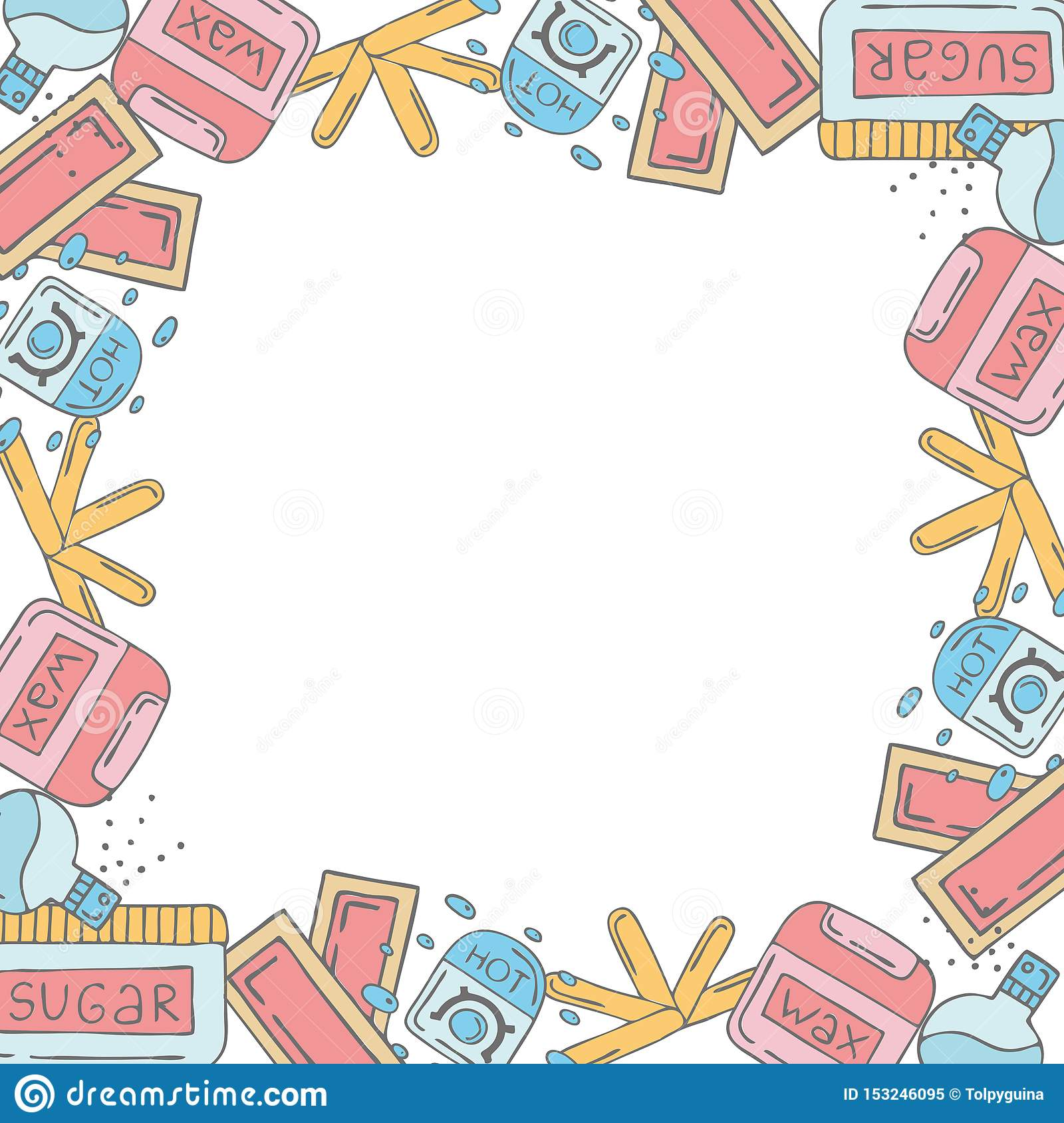 Frame template with doodle elements
