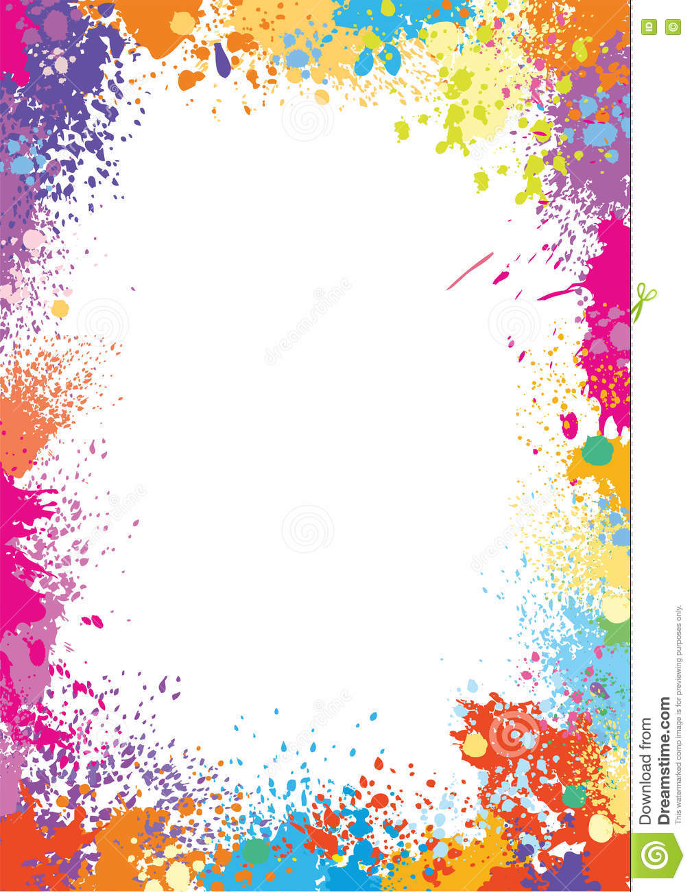frame template made of paint stains stock vector illustration of rainbow frame 71441322. Black Bedroom Furniture Sets. Home Design Ideas