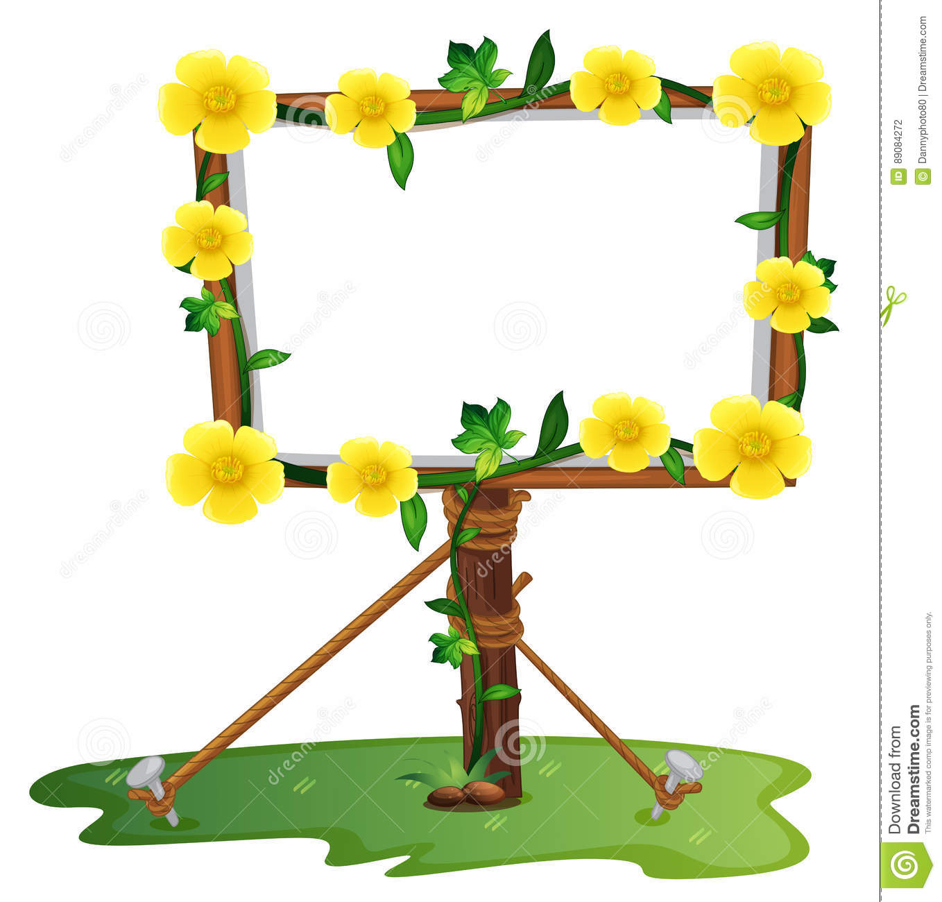 6bfd8ba74142c Royalty-Free Vector. Frame template with yellow buttercup flowers