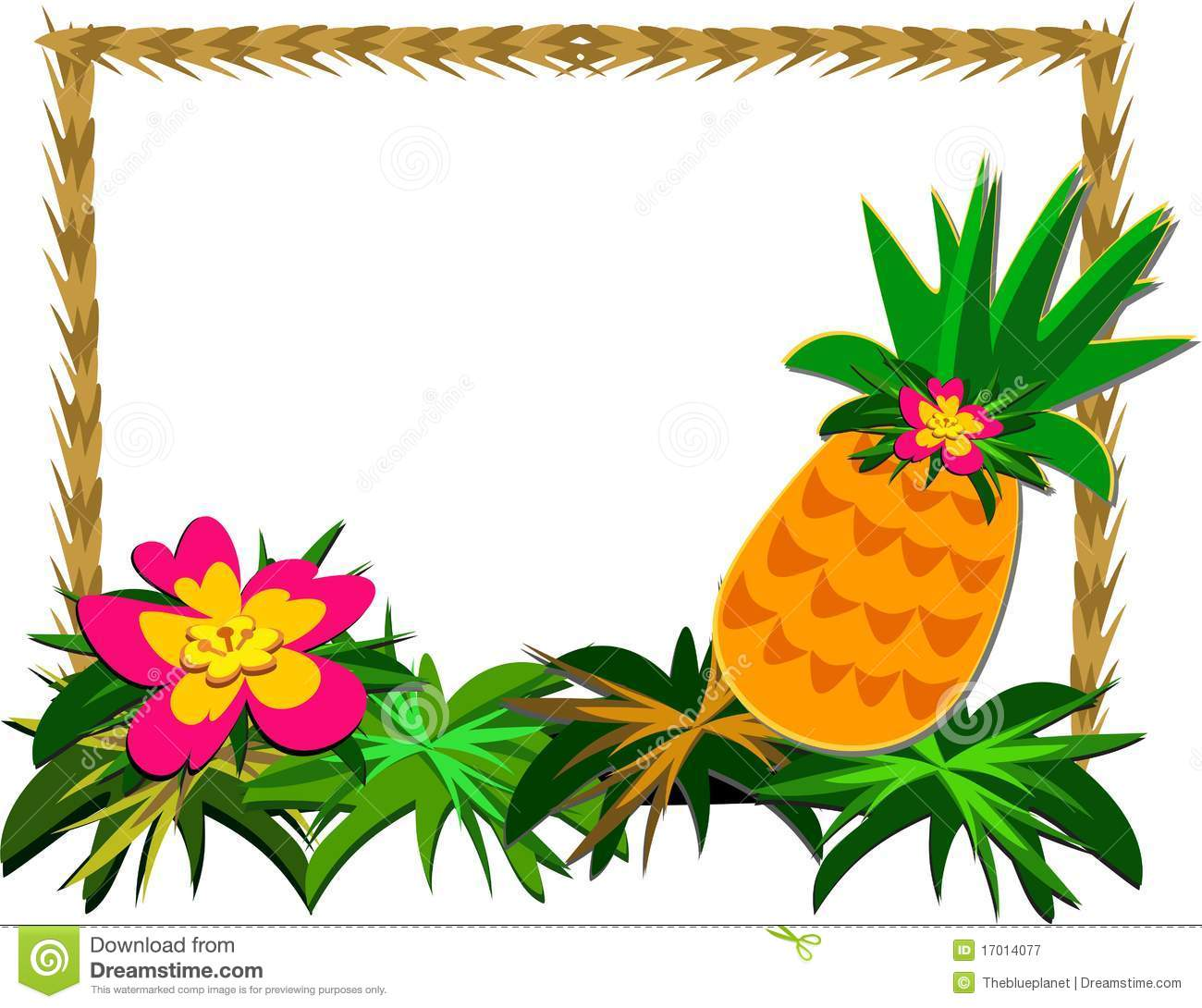 frame of tropical pineapple and flower stock vector illustration of hibiscus  region 17014077 hibiscus flower clip art b ack and white hibiscus flower clip art images free