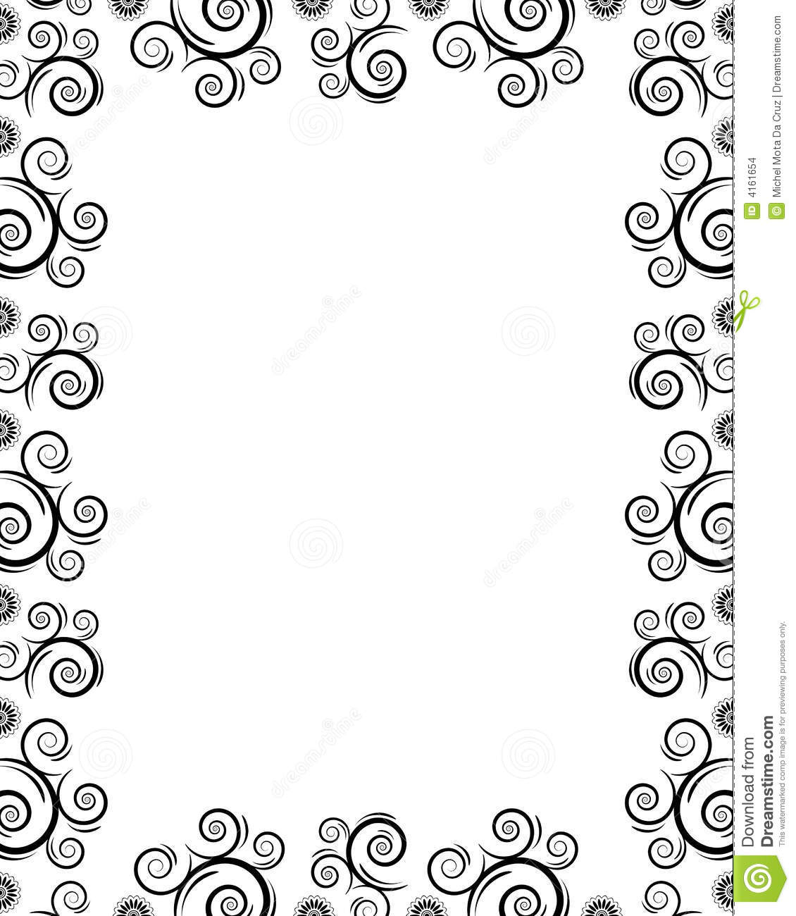Frame With Twirls Stock Images Image 4161654