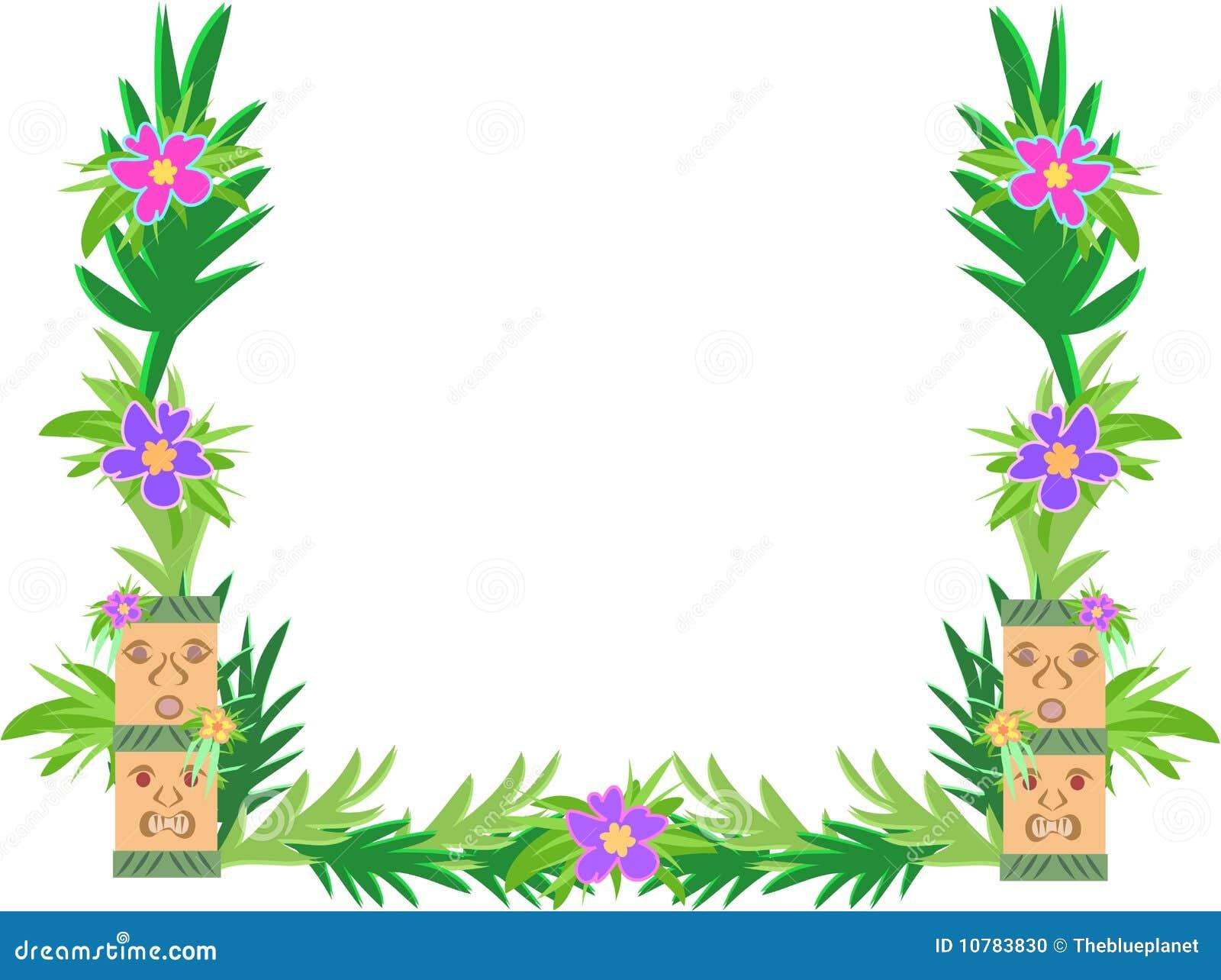 Frame van de Bloemen van Tiki en van de Hibiscus