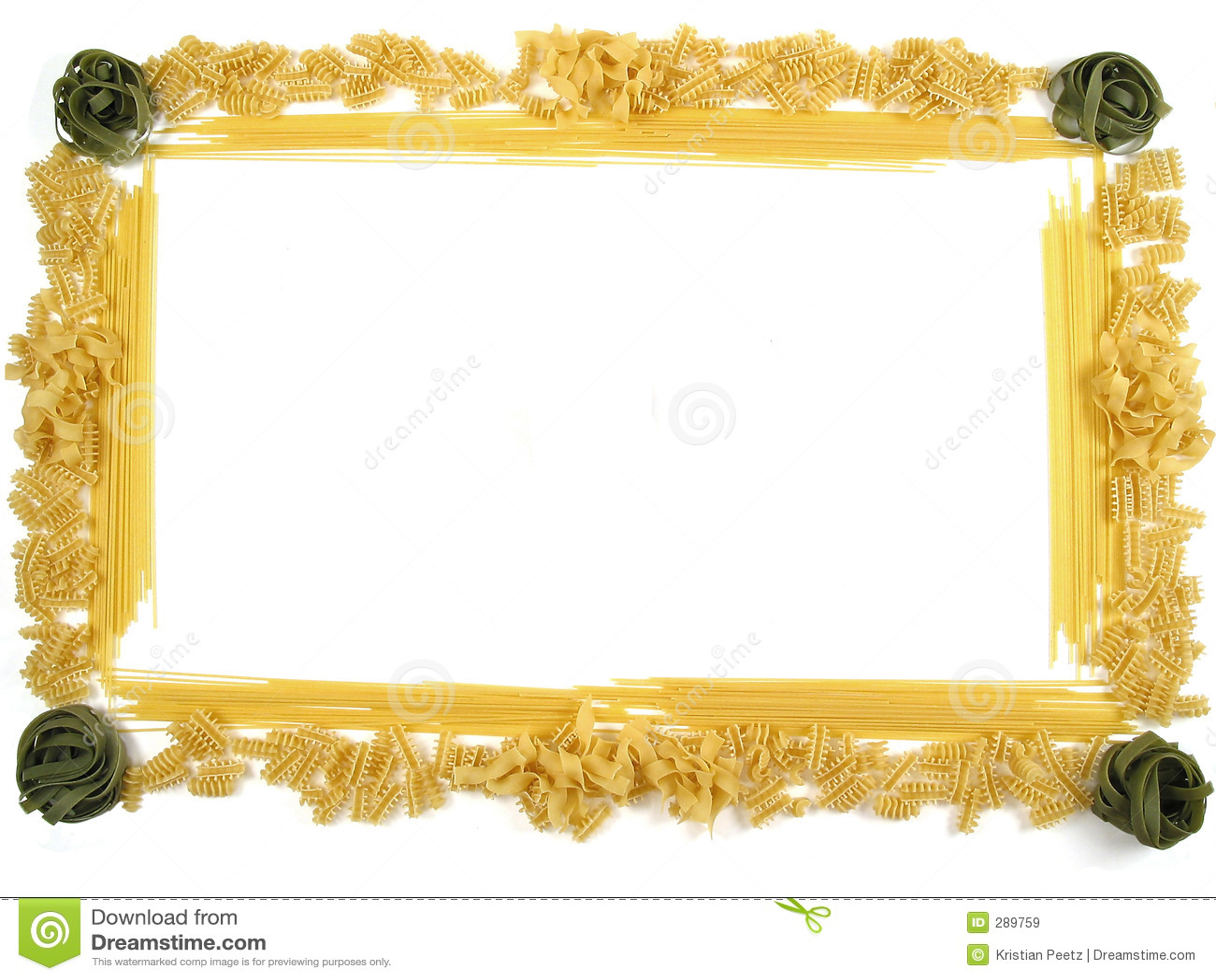 Frame van deegwaren