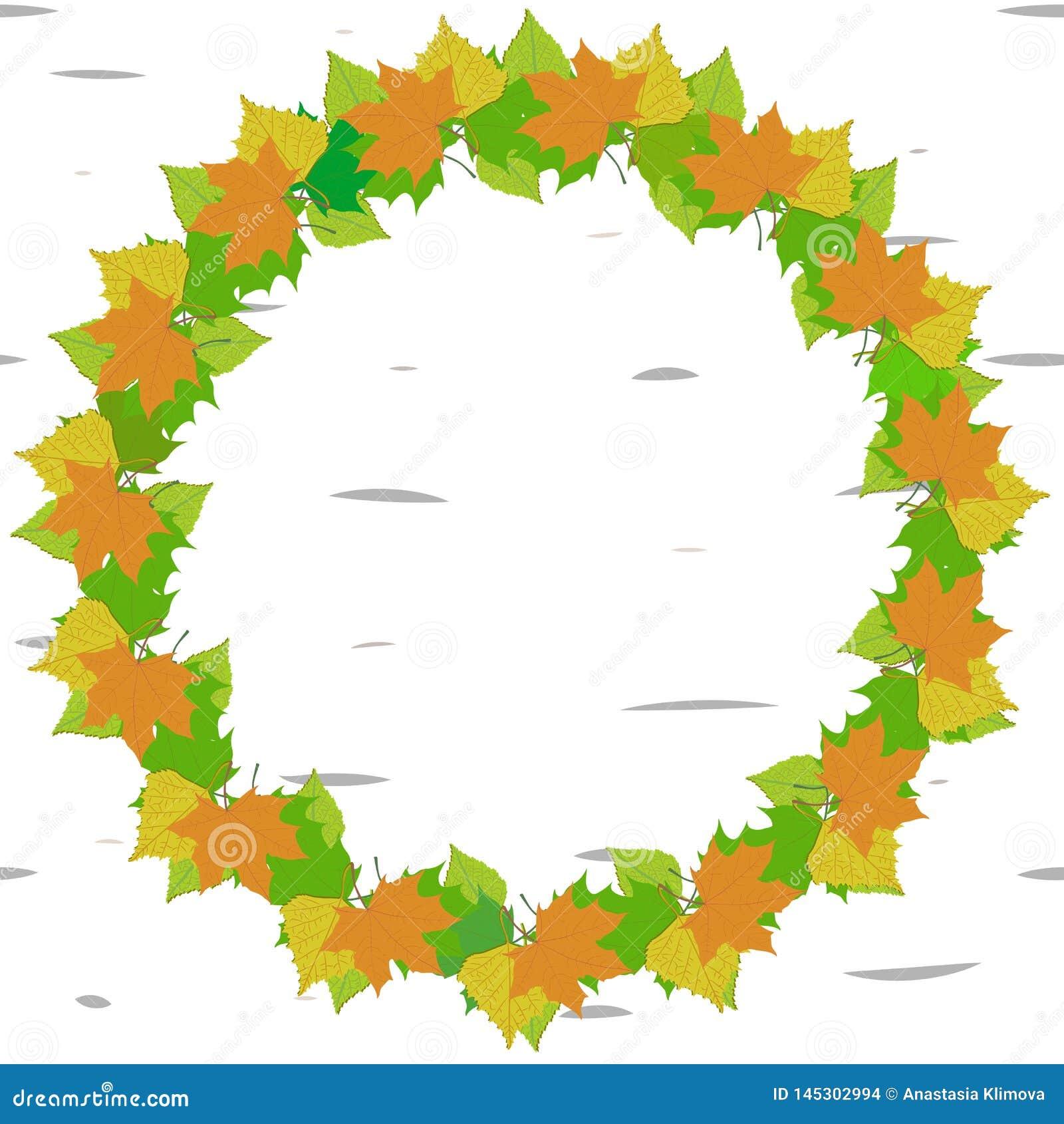 Frame van groene en gele bladeren