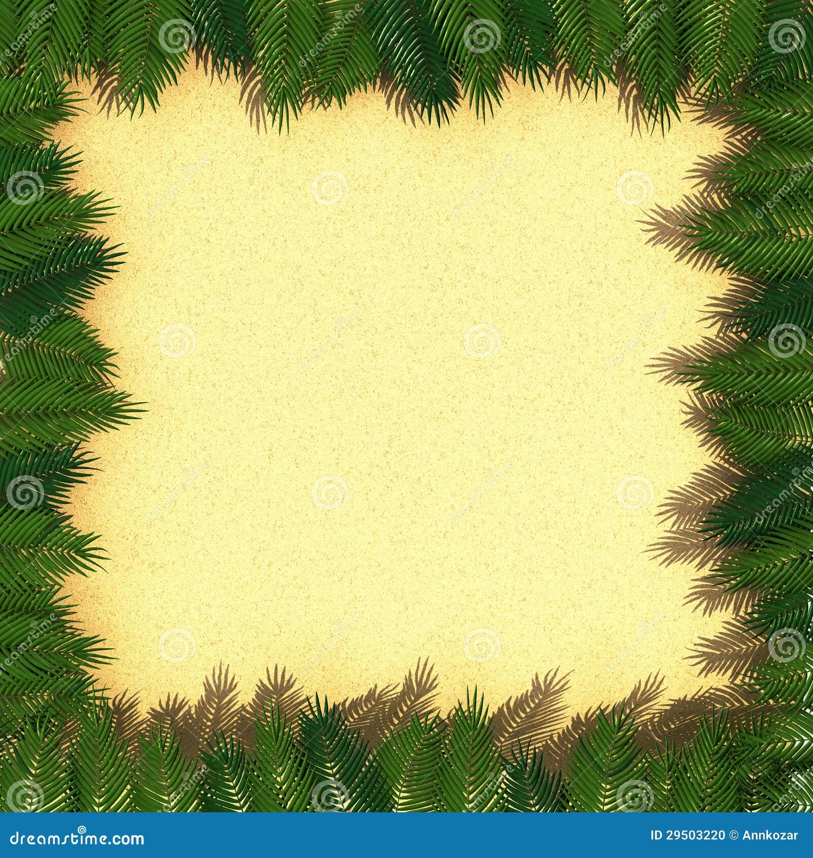 Frame van palmbladen