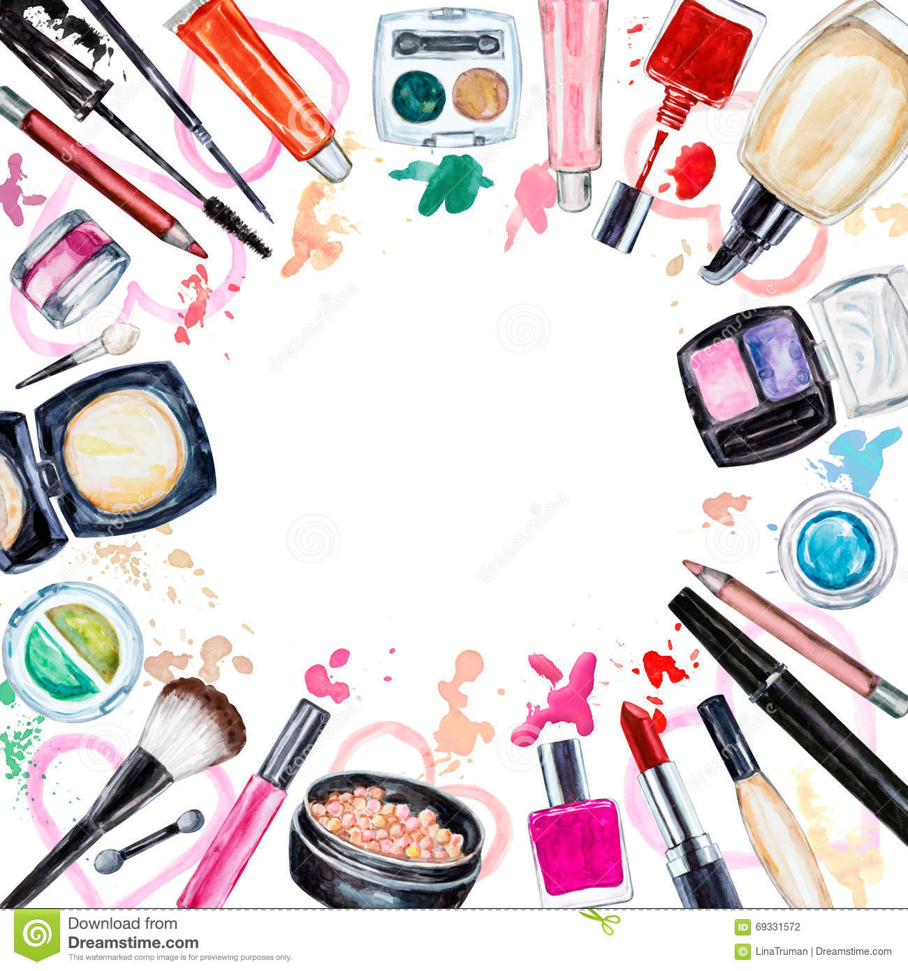 Makeup Watercolor Vidalondon