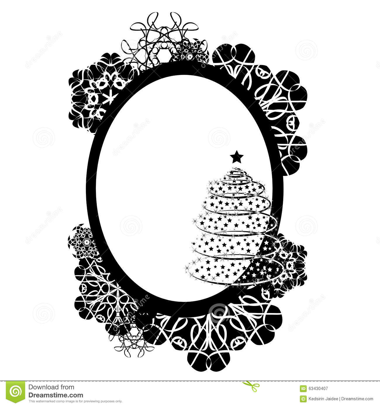 Frame Vector Design Illustration Black And White Color Card Stock