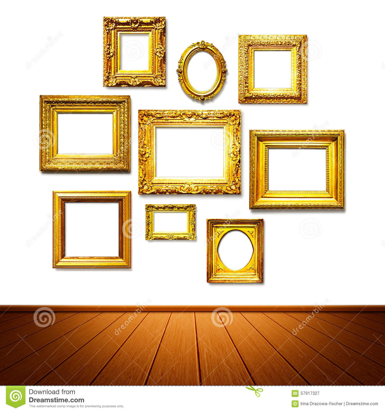 Frame wall stock image. Image of museum, interior, border - 57917327