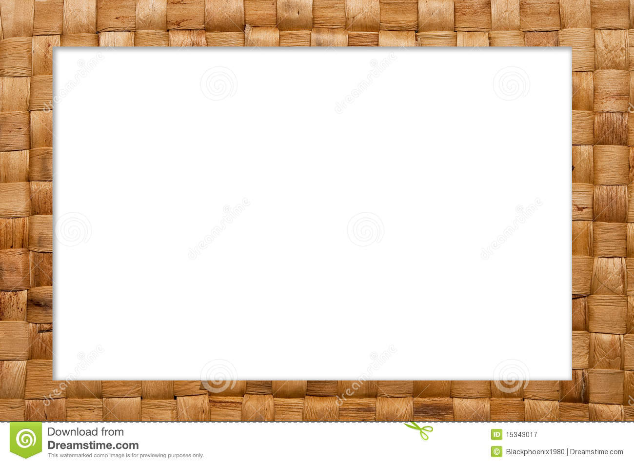 Frame Of Weave Basket Stock Image Image Of Color Rough