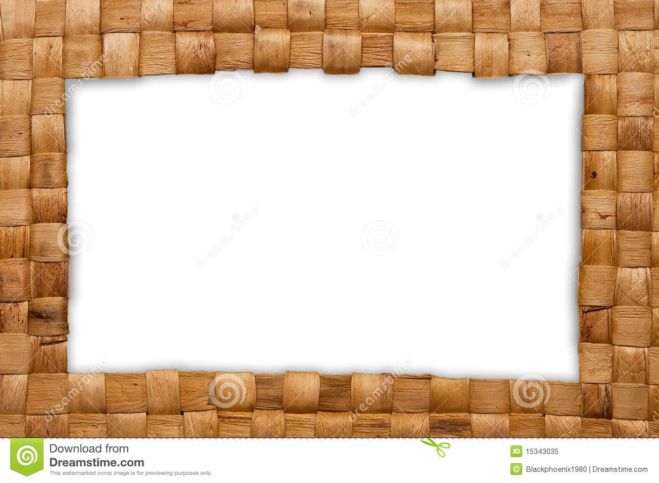 Frame Of Weave Basket Royalty Free Stock Photo Image