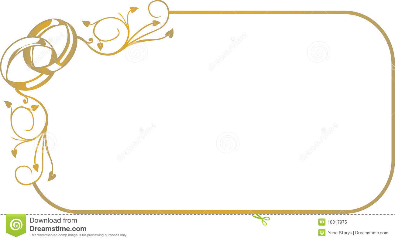 Frame With Wedding Rings Stock Vector Illustration Of Beauty 10317975