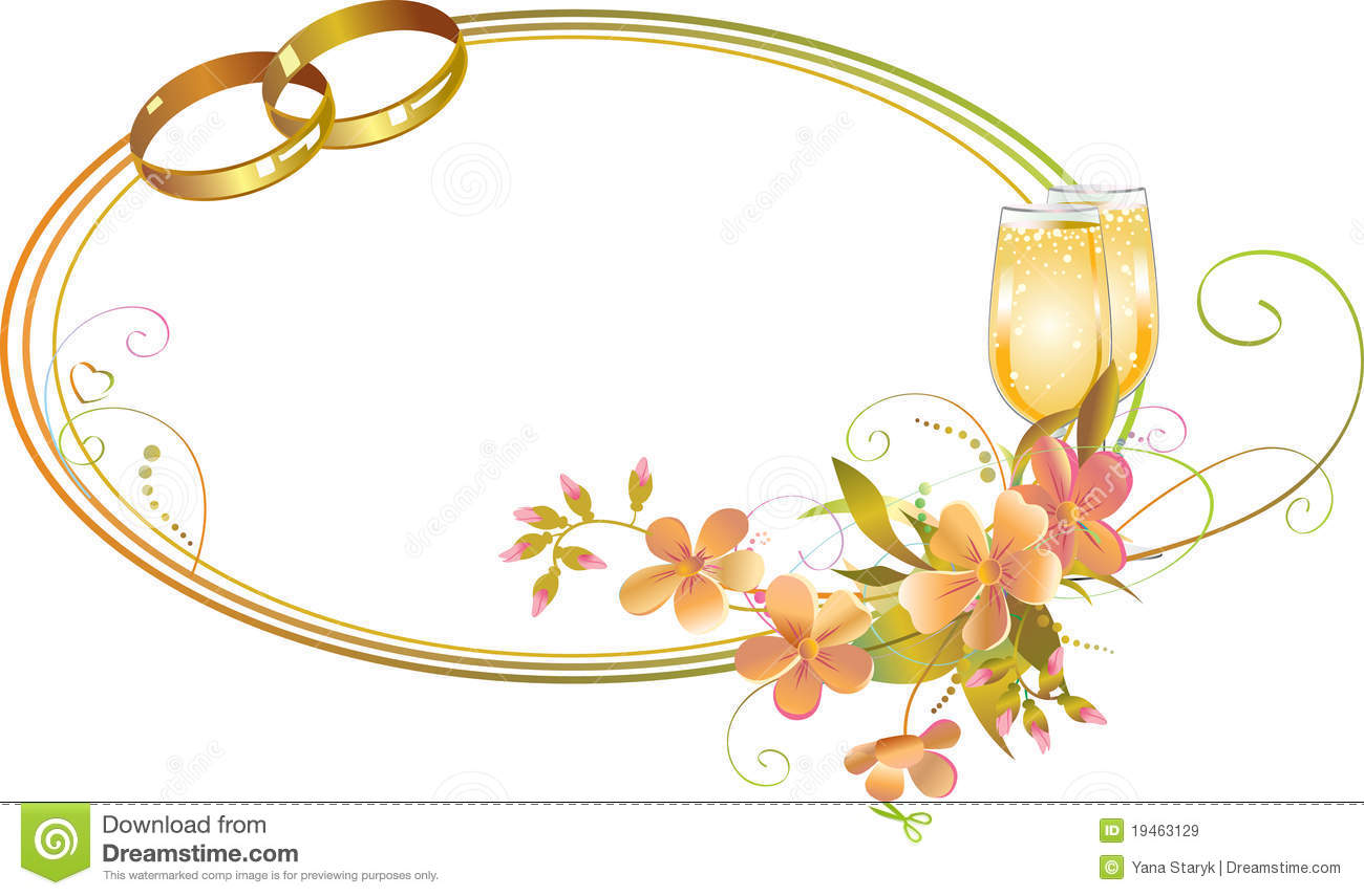 Frame With Wedding Rings Royalty Free Stock Images Image 19463129