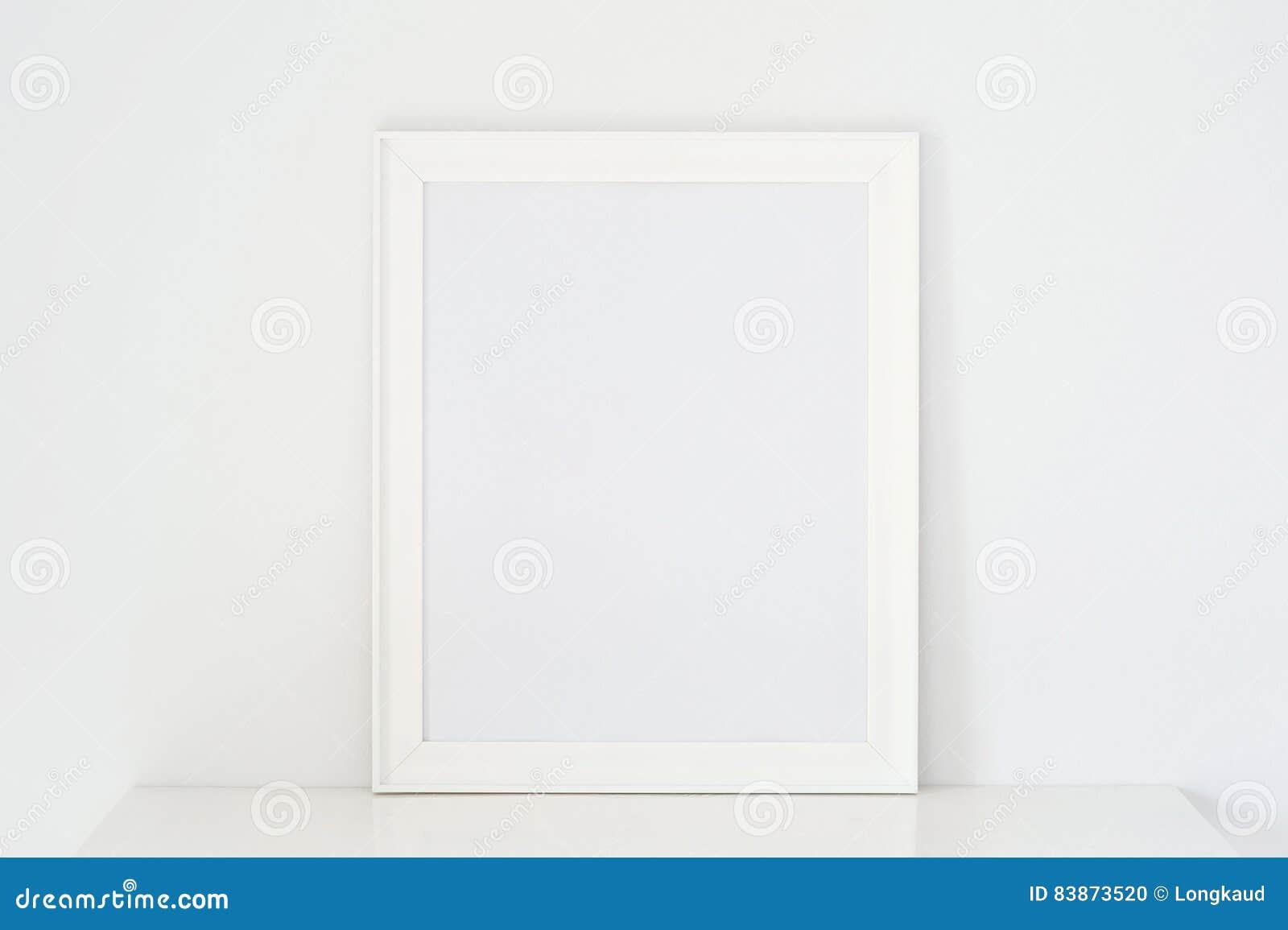 Frame white stock photo. Image of modern, blank, mock - 83873520