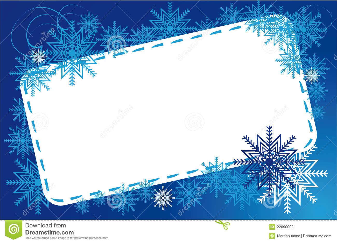 frame winter snowflakes stock photography image 22090092