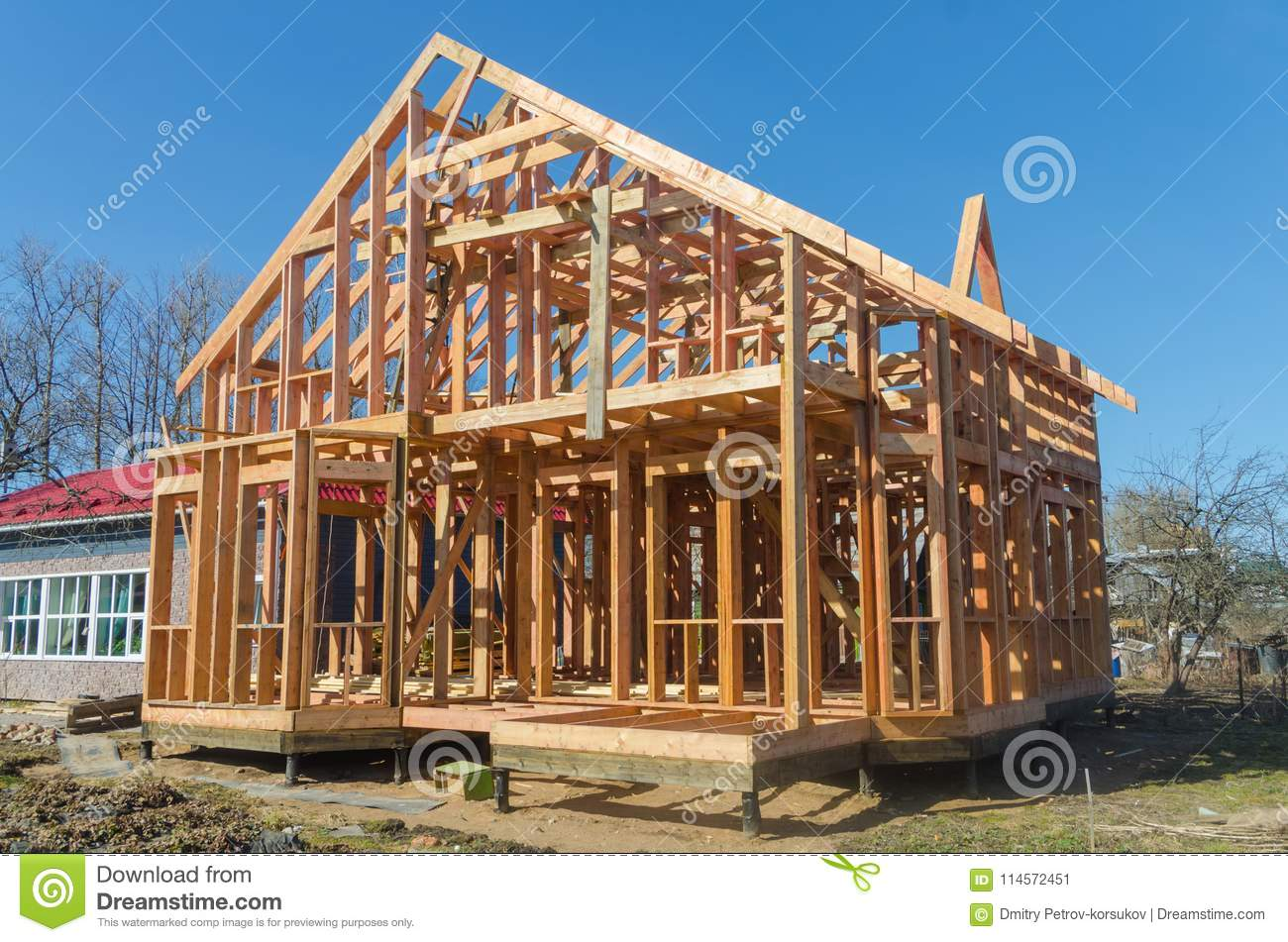 Construction of wooden houses, building materials 78