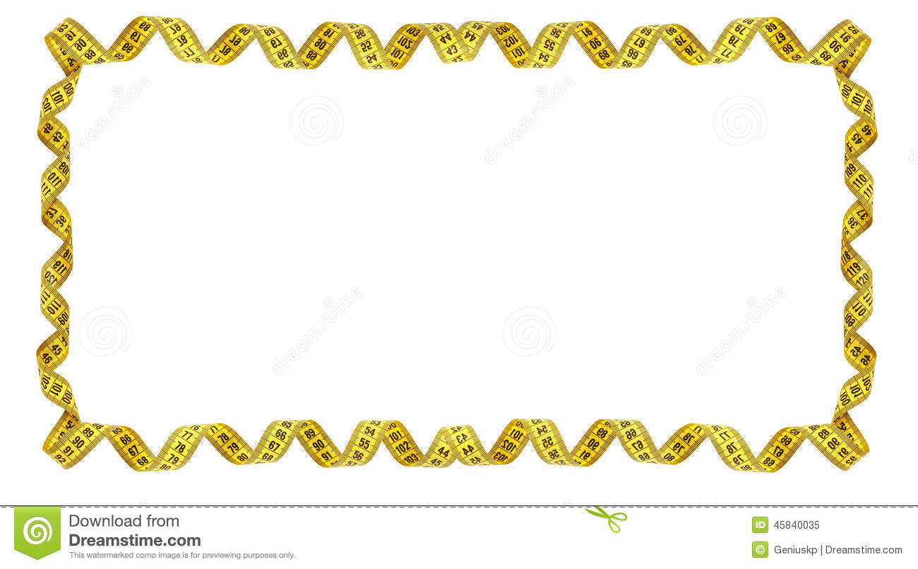 Boarder design free download clip art free clip art on clipart - Frame Of Yellow Measuring Tape Stock Photo Image 45840035