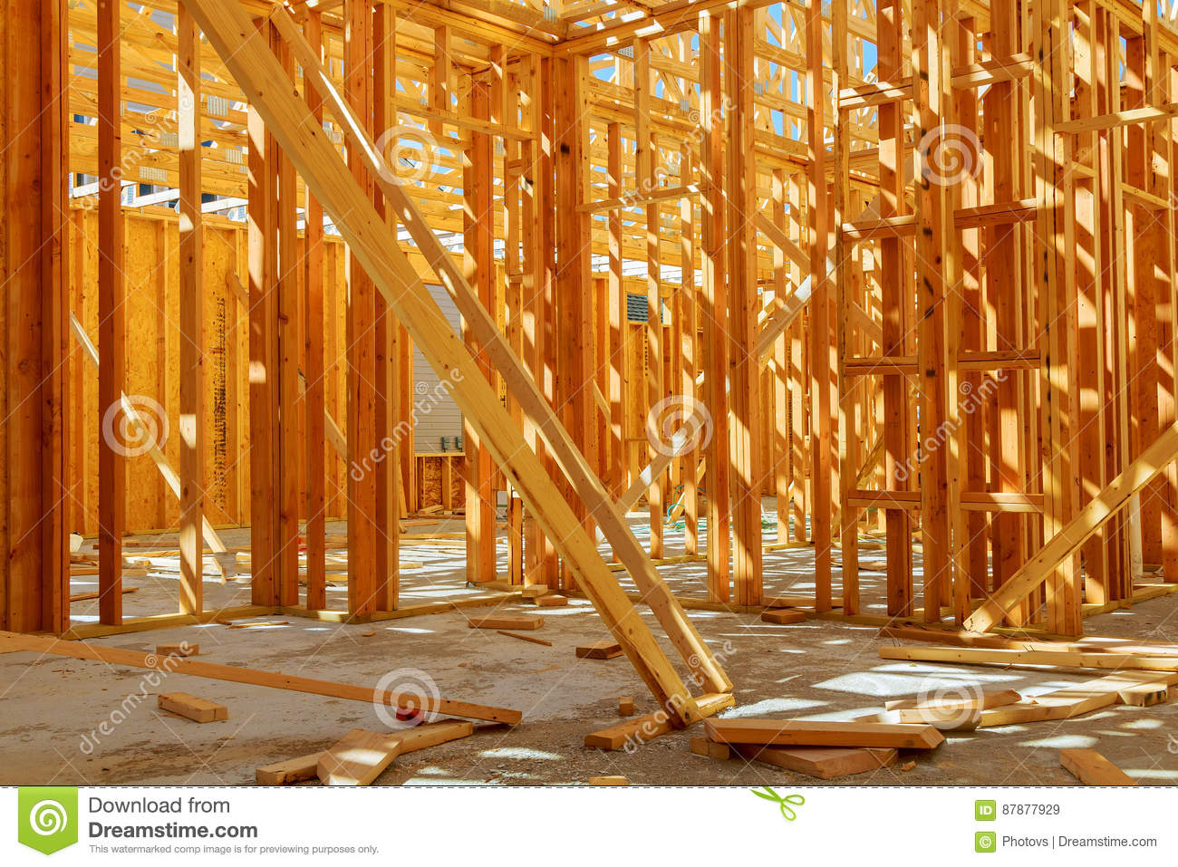 Framed Building Or Residential Home With Basic Stock Image ... on