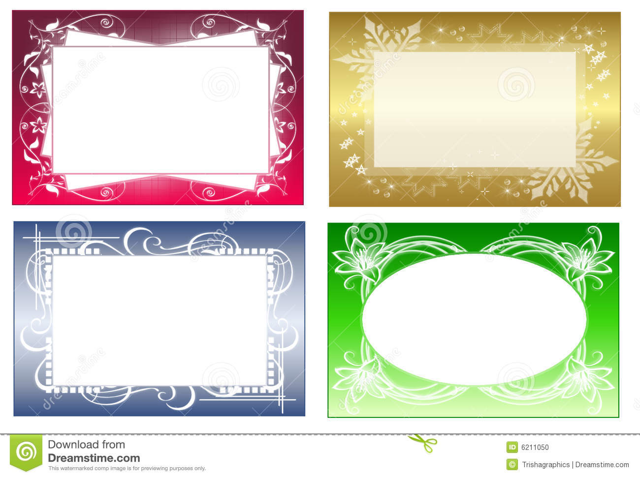 Frames stock illustration. Illustration of colored, purple - 6211050