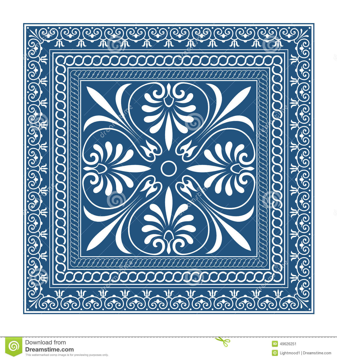 The Frames Of Ancient Greek Style Stock Vector - Image ...