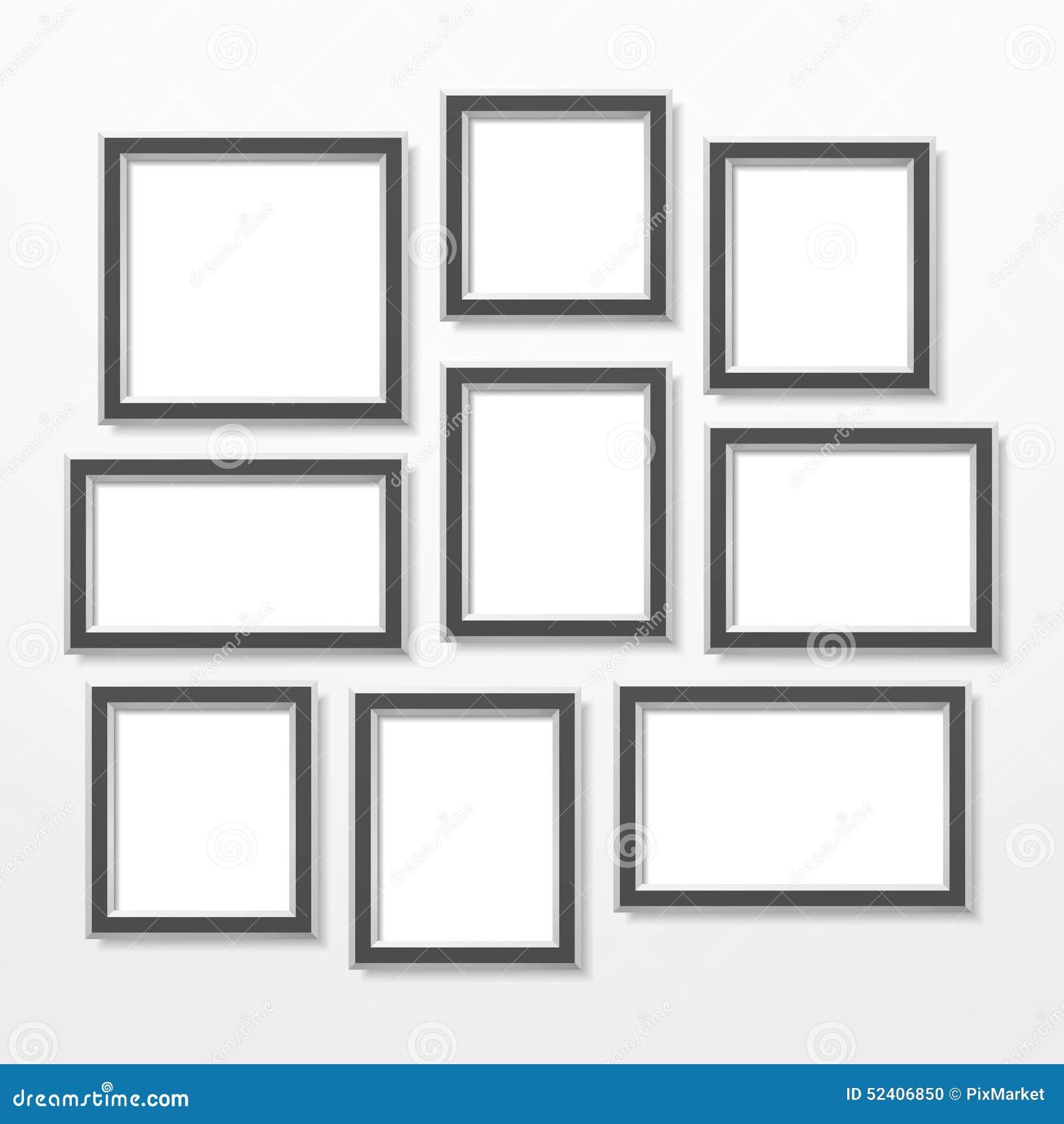 Frames stock vector. Illustration of frames, gray, horizontal - 52406850