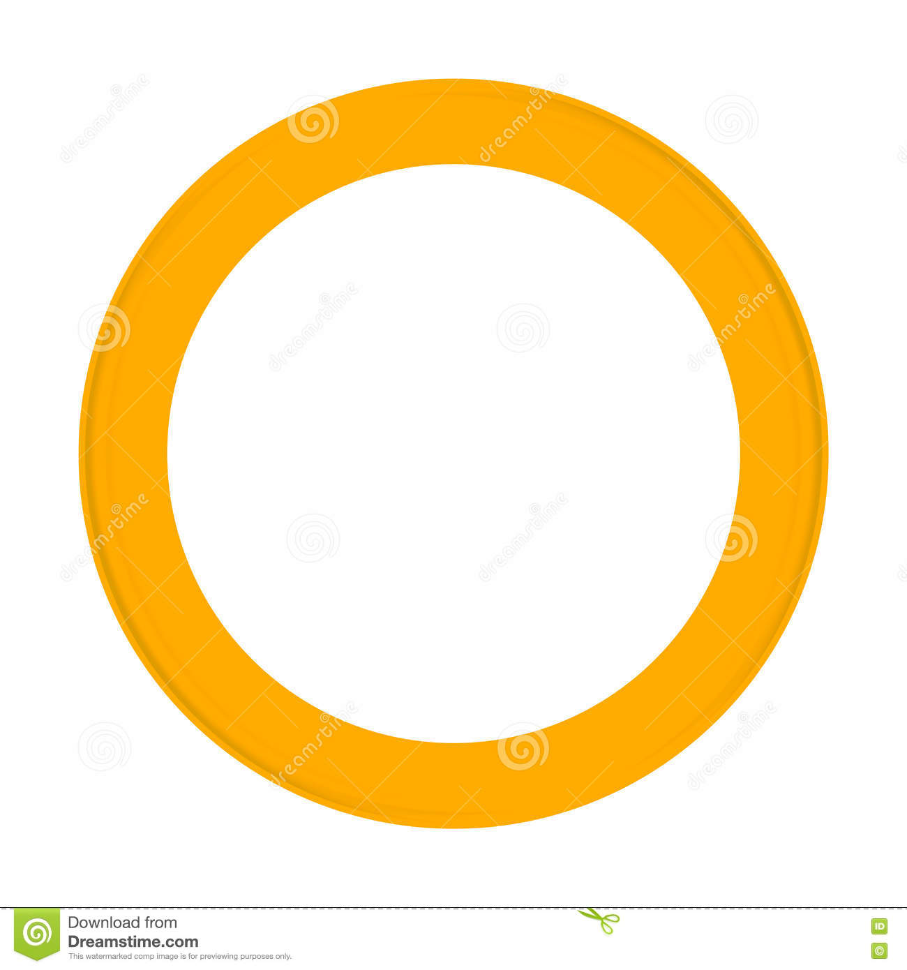 Frames And Borders - Yellow Round Frame For Photos Stock Image ...