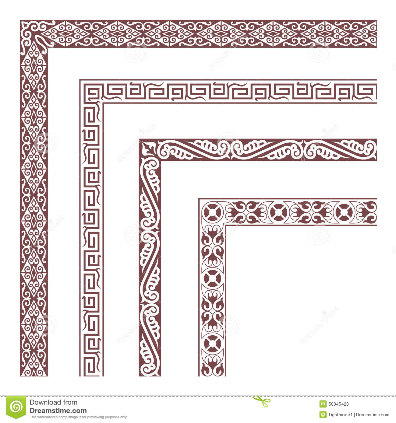 The Frames Of Chinese Style Stock Vector - Illustration of seamless ...