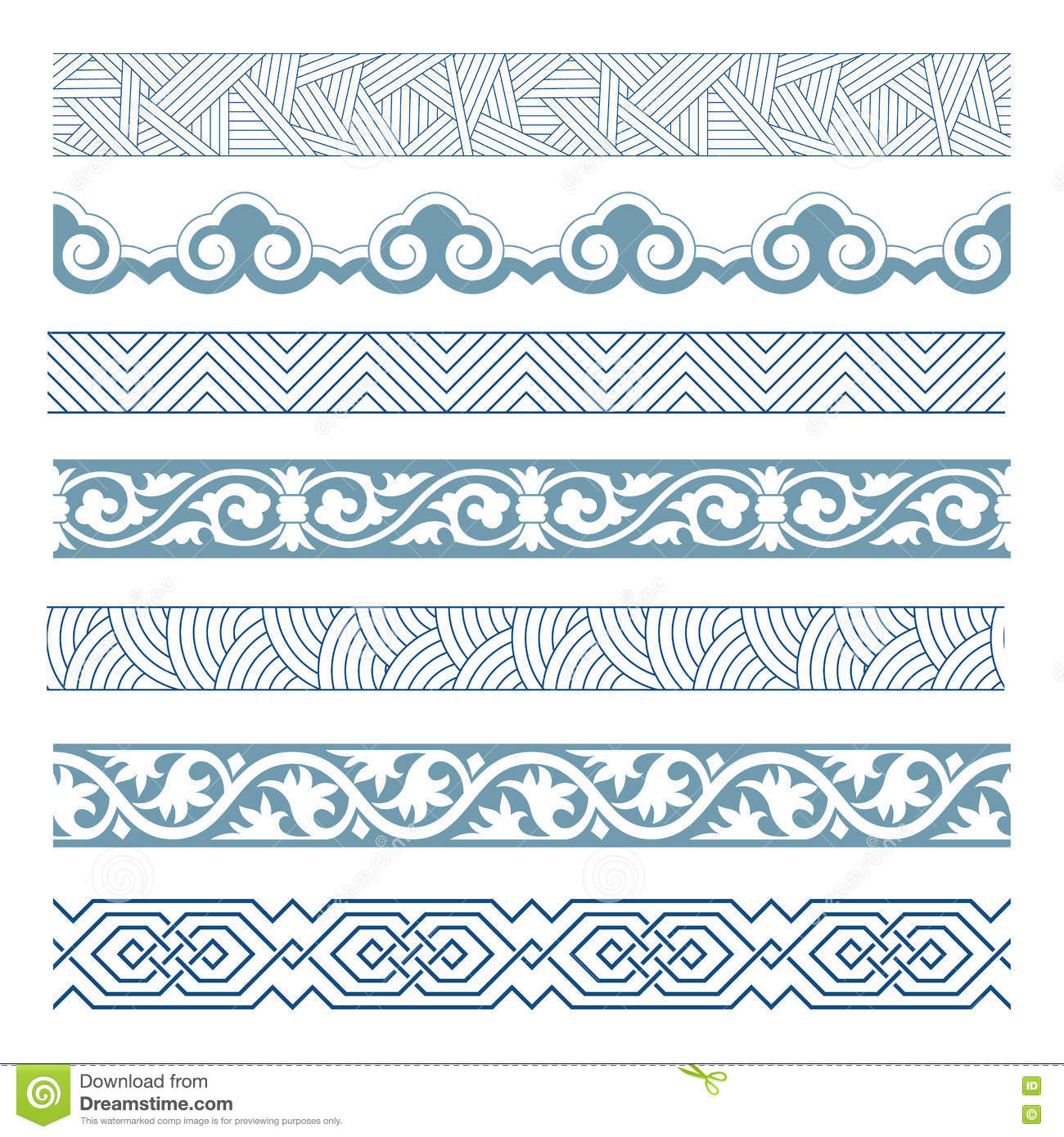 Frames of Chinese Style stock vector. Illustration of effect - 73827743