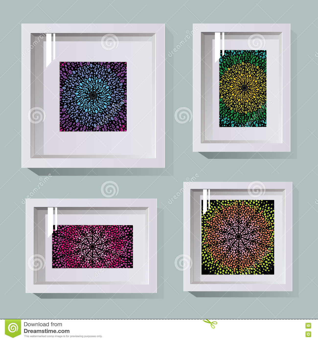 Frames in different sizes stock vector. Illustration of horizontal ...