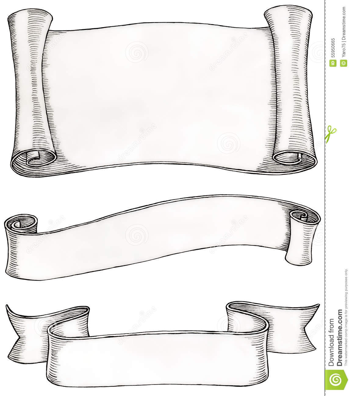 Scroll Drawing: Frames Stock Illustration. Image Of Letter, Clipping
