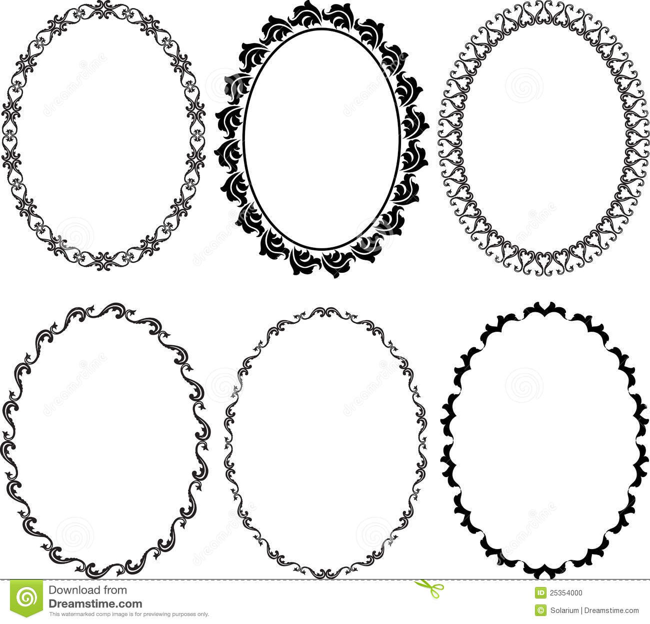 Frames Oval Stock Photo - Image: 25354000