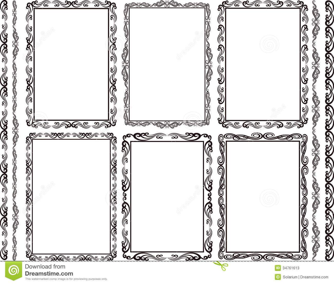 Frames rectangular stock vector. Illustration of ornament - 34761613