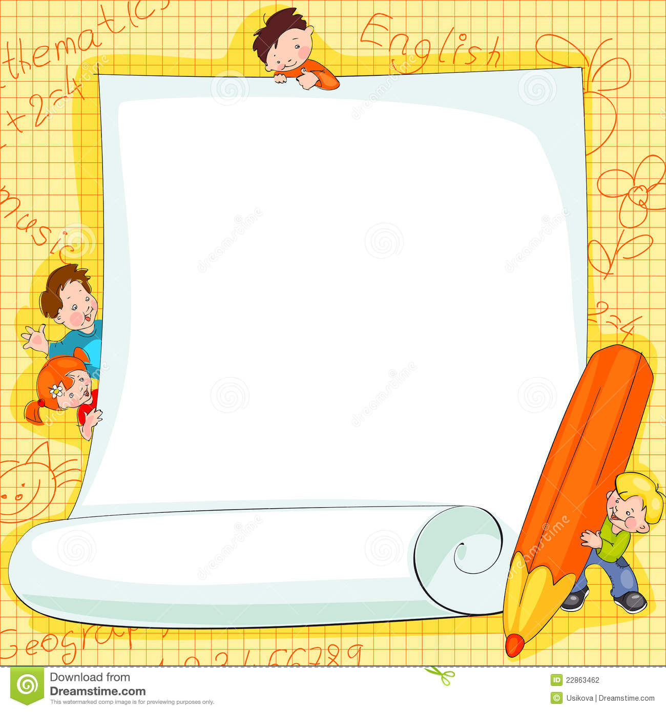 Frames On School Kids Stock Photography Image 22863462