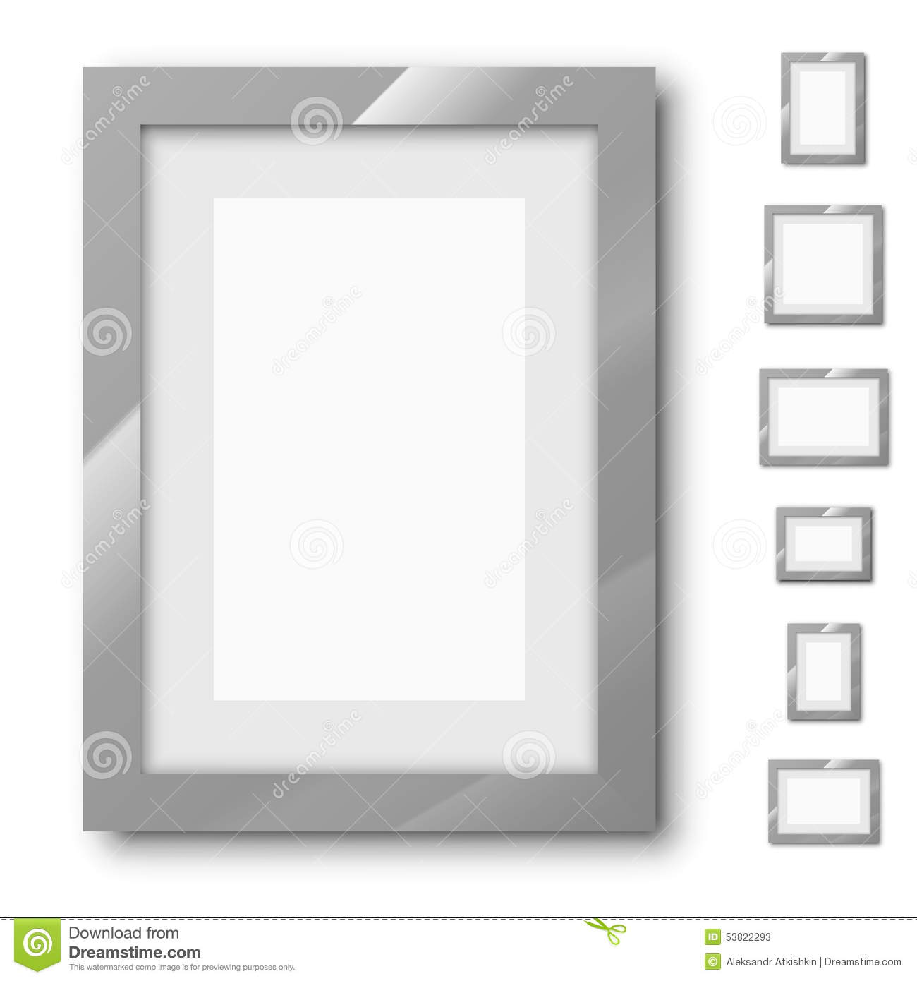 Frames Set Stock Vector Illustration Of Portfolio Brand 53822293