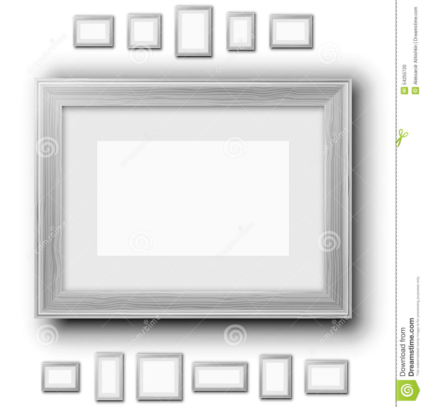 Frames set stock vector. Illustration of photo, banner - 54255720