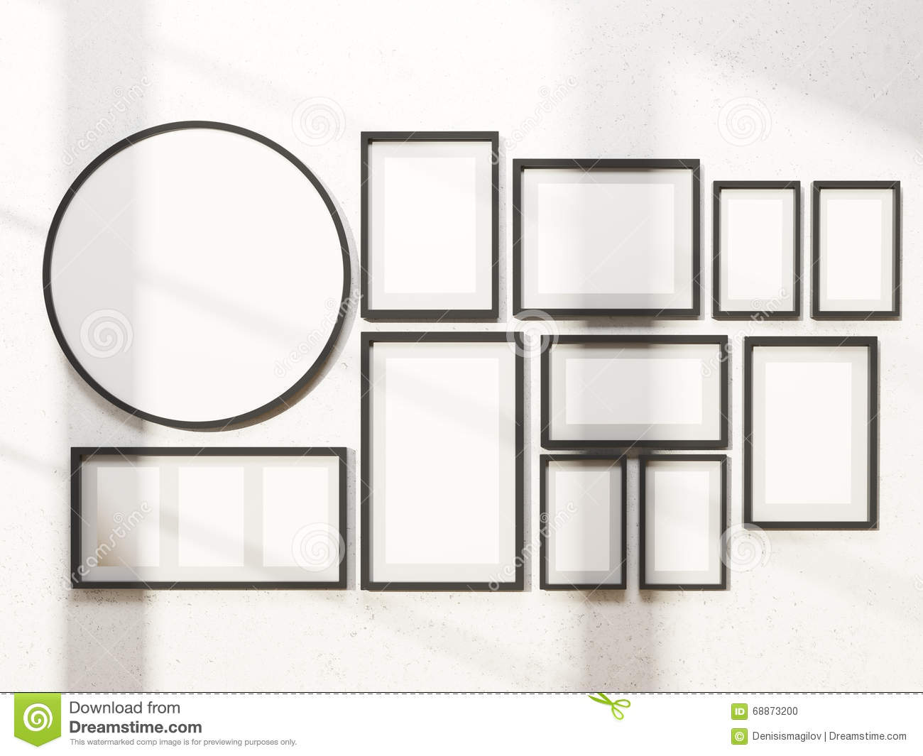 Frames On Wall frames on wall stock illustration - image: 68873200