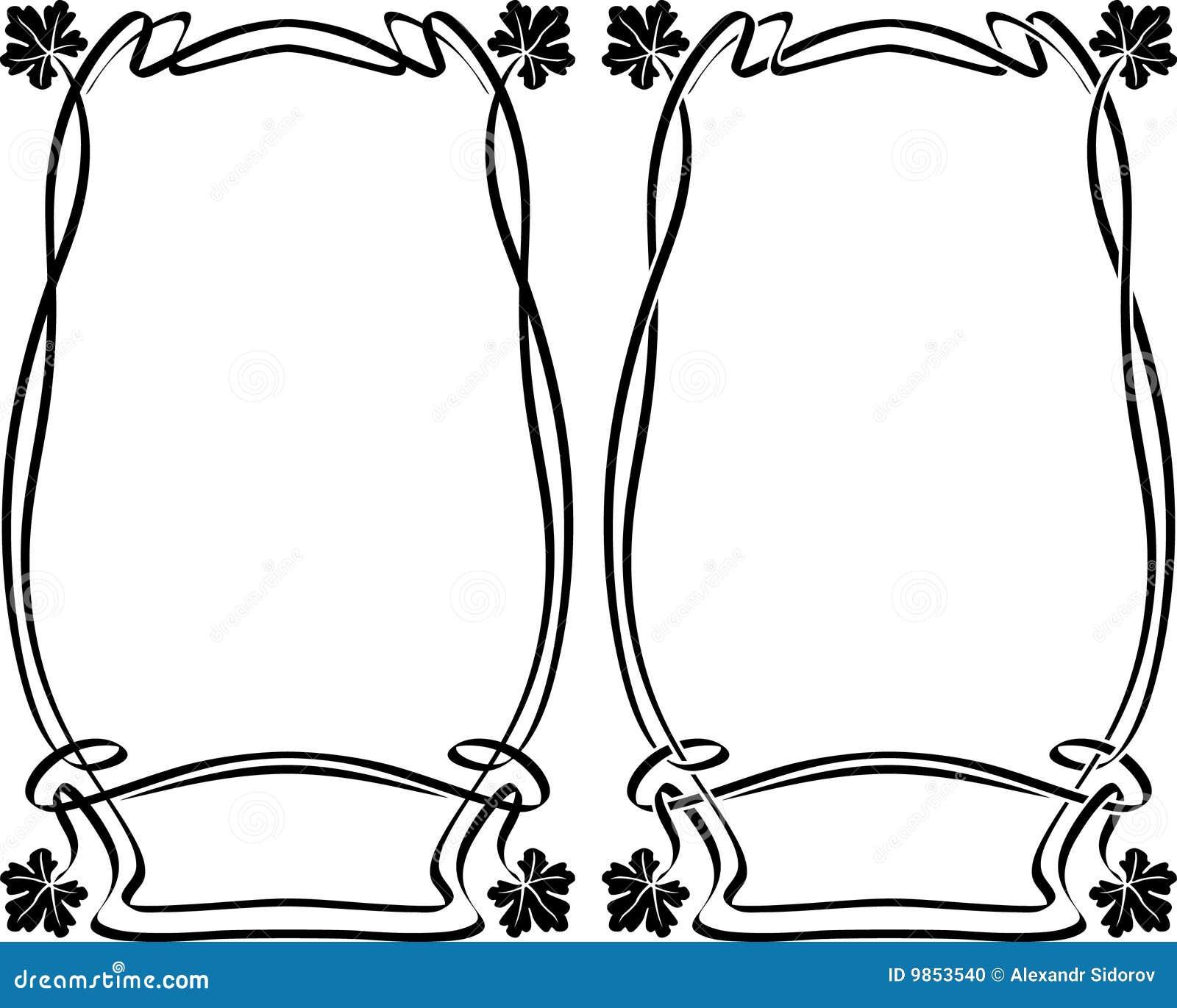 framework art nouveau stock photo image 9853540. Black Bedroom Furniture Sets. Home Design Ideas